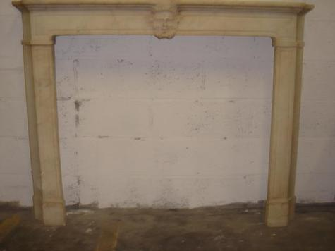 White marble fireplace