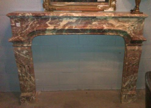 Louis xiv style marble fireplace