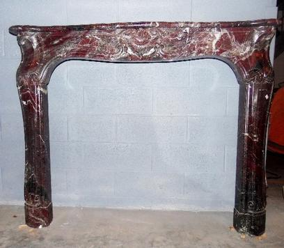 LXV Marble fireplace