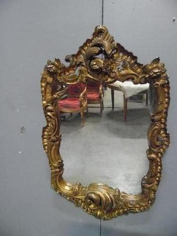 Wood mirror 18th