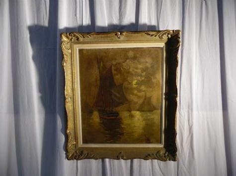 oil on canvas signed S.HONORE