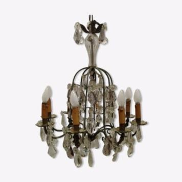 crystal chandelier of two colors xx century