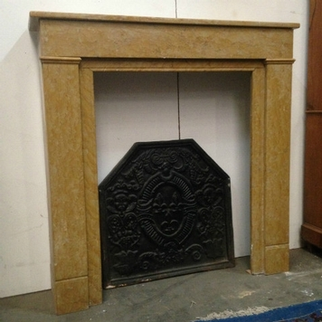 fireplace in marble consulat period