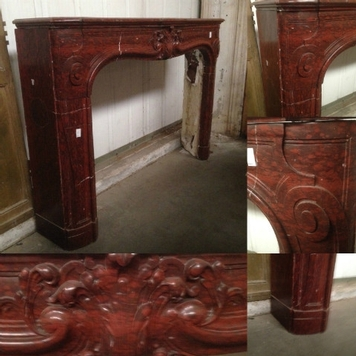fireplace louis xv marble 19th century