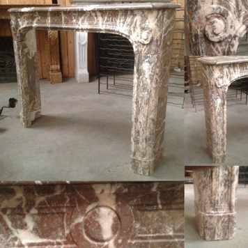 Fireplace louis xv marble