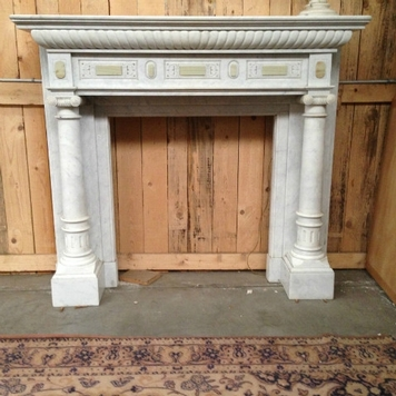 fireplace marble carrare