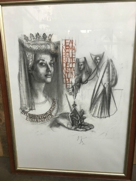 framed drawing  20th century