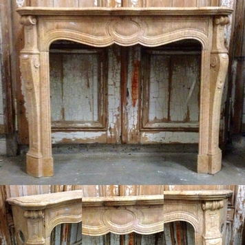 Louis XV marble fireplace