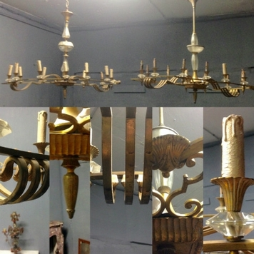 pair of chandelier year 1940