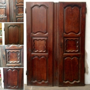 Pair of door solid oak
