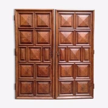 pair of door walnut