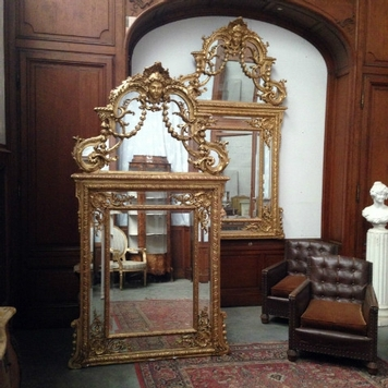 Pair of mirrors regency