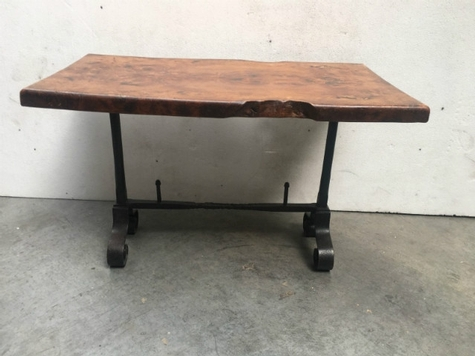 table console wood and iron 20th century