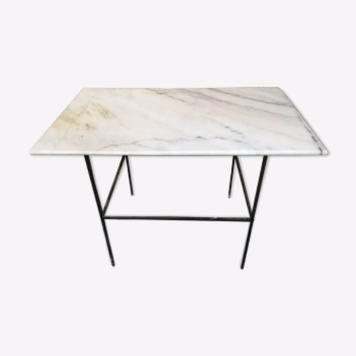 table d'appoint dessus marbre